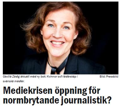 Mediekrisen öppning för formbrytande journalistik -feministisktperspektiv.se